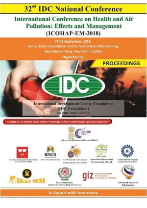 International Conference on Health and Air Pollution: Effects and Management (ICOHAP-EM-2018)